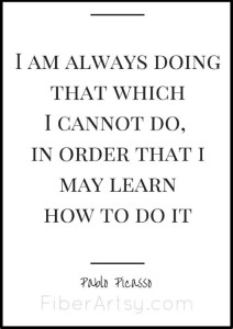 """I am always doing that which I cannot do …"