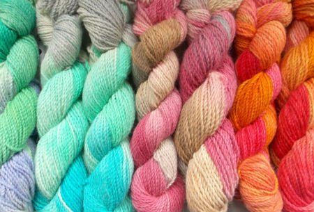 Dyeing Yarn in Multi Colorways. Alpaca and Merino Wool Yarn dyed in various Colorways for Knitting or Crochet