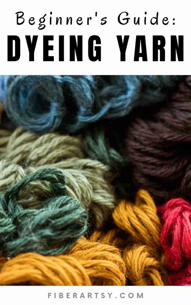 how to dye yarn - a beginner guide