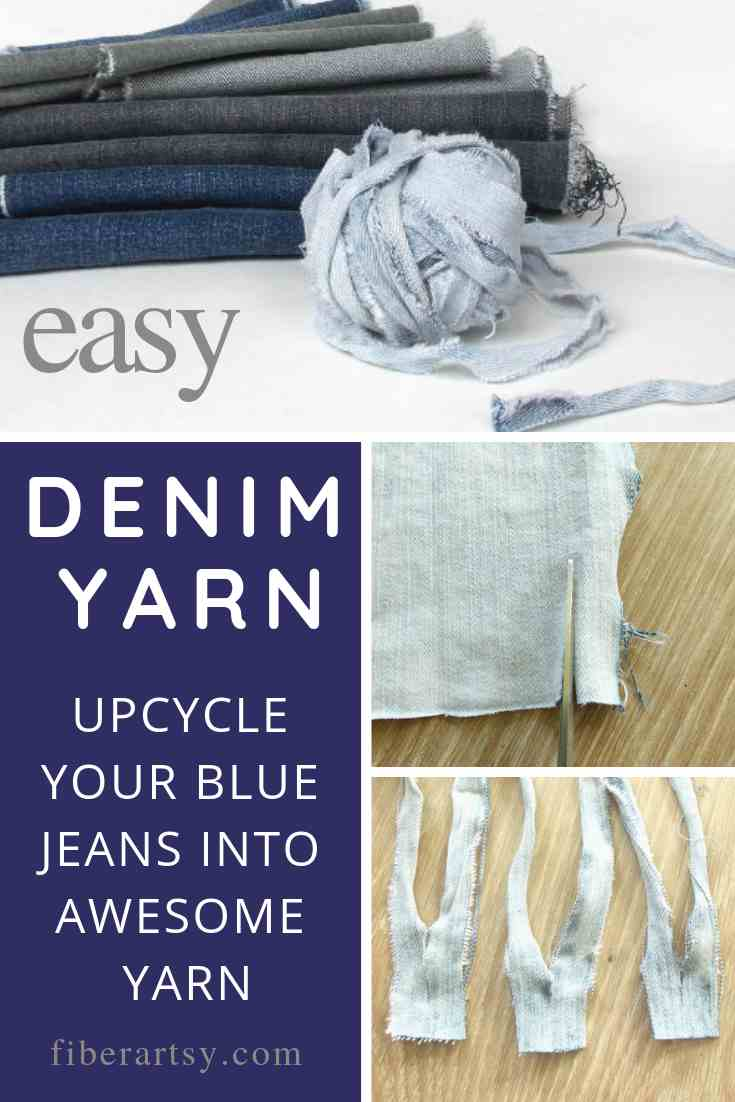 Upcycle your old blue jeans into awesome yarn