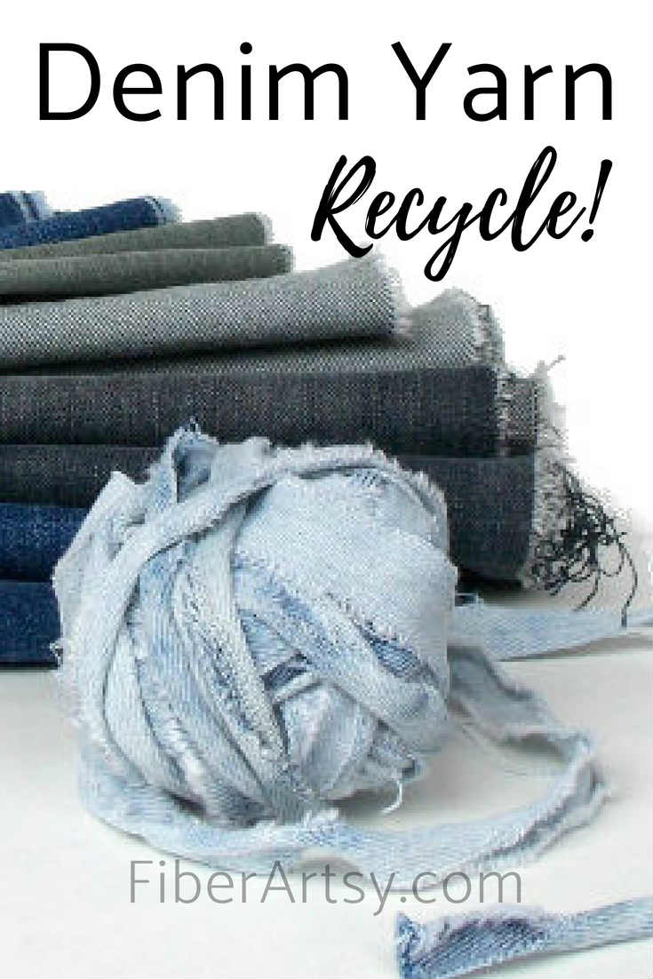 Upcycle your old blue jeans into yarn for crochet projects