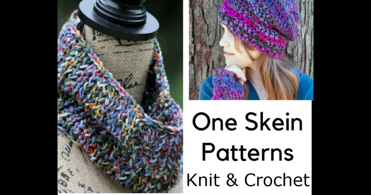 15 One Skein Patterns For Knit And Crochet By Fiberartsy