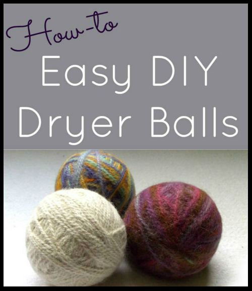 Save Money!!  Homemade Dryer Balls. An eco friendly, all natural, chemical free alternative to dryer sheets