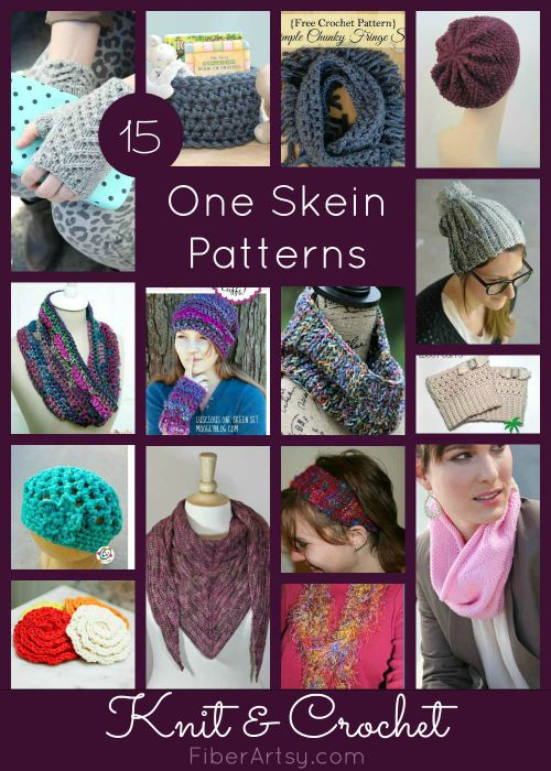 15 One Skein Patterns for Knit Crochet, FiberArtsy.com