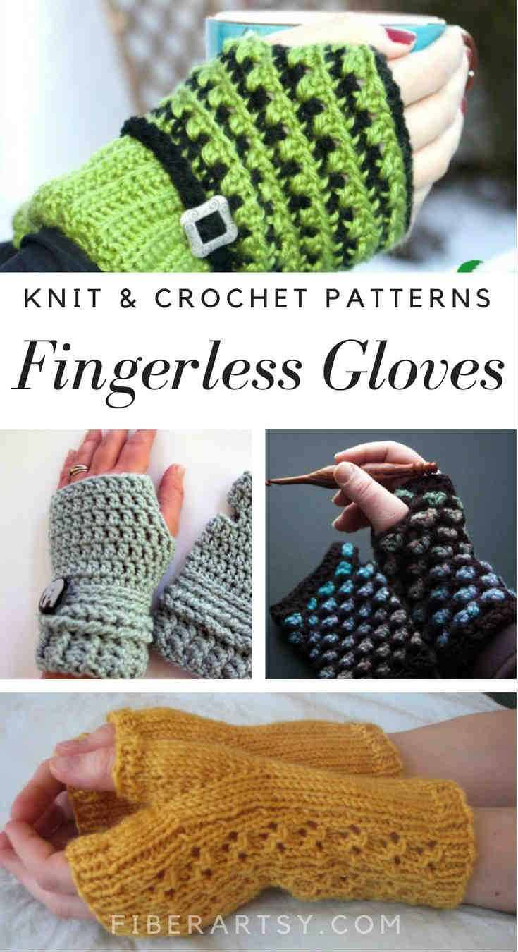 Fingerless Gloves for Knitting and Crochet