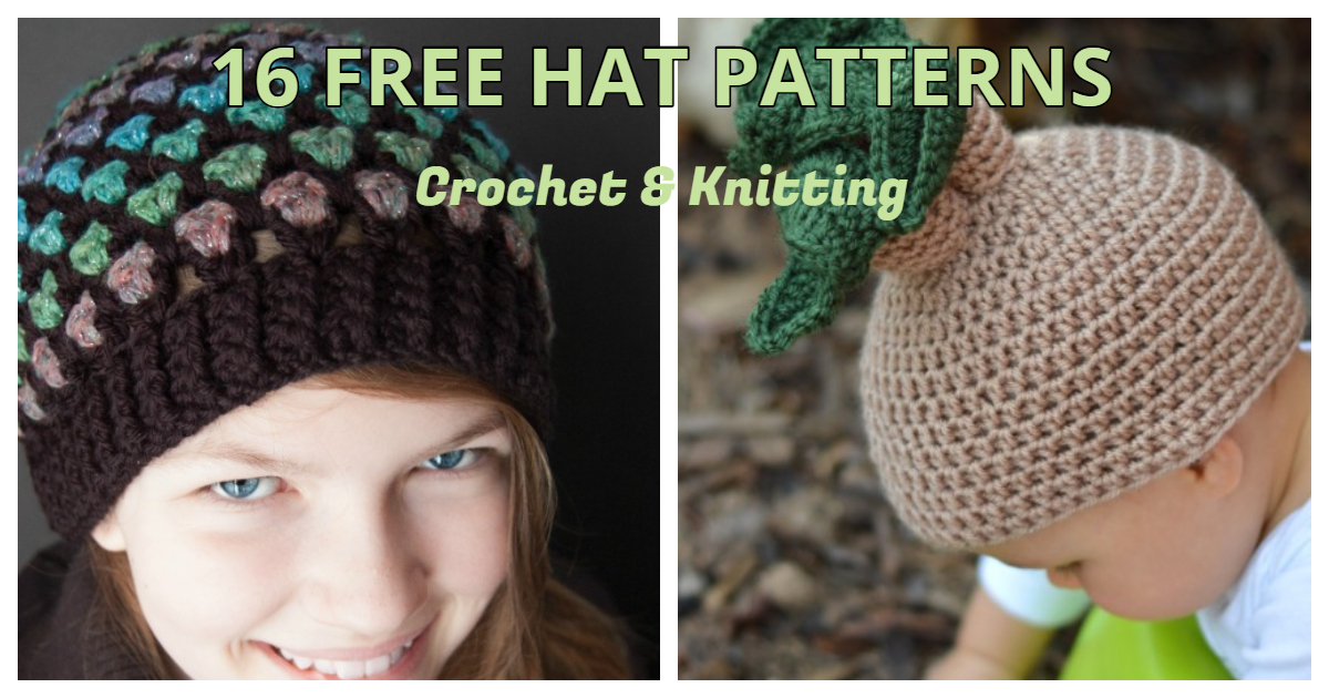 16 Free Hat Patterns For Crochet And Knit By Fiberartsy