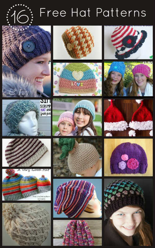 16 Free Hat Patterns for Crochet and Knitting, FiberArtsy.com