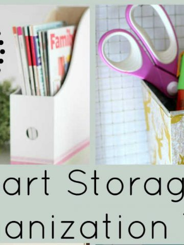 Home Storage & Organization Tips by FiberArtsy.com
