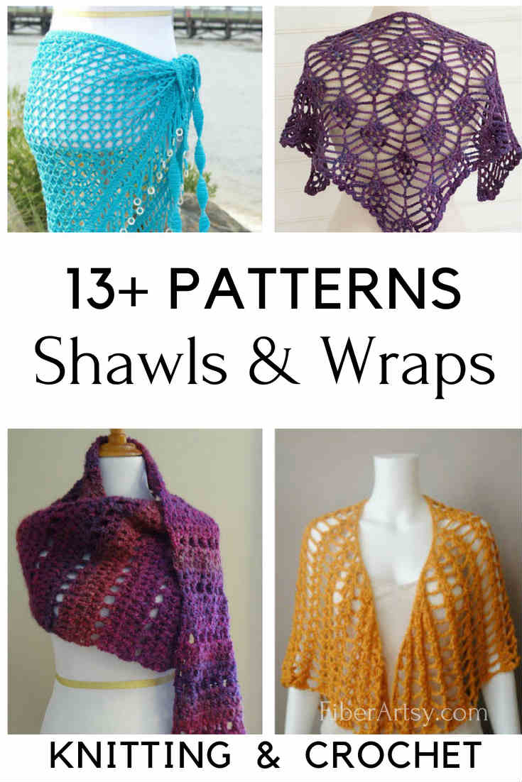13+ Knit & Crochet Shawl Patterns - FiberArtsy com