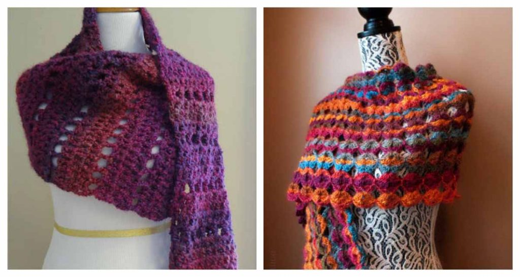 Free Knitting Patterns and Crochet Patterns for Wraps and Shawls
