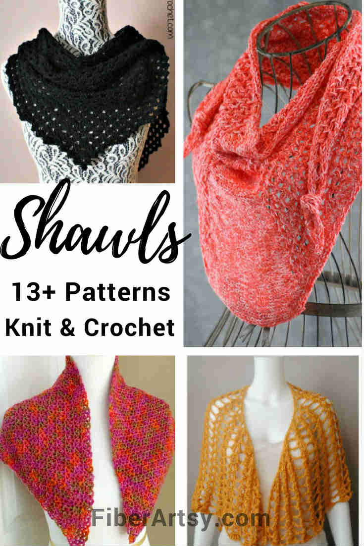 Free Knitting and Crochet Patterns for Wraps and Shawls by FiberArtsy