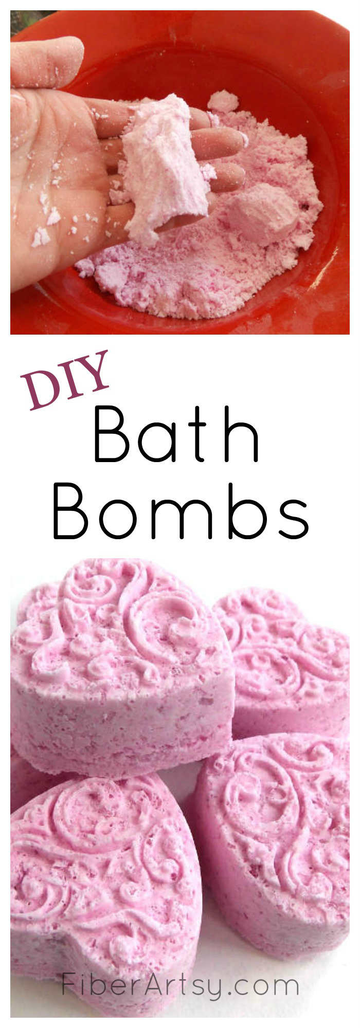 DIY Bath Bomb Recipe, Super easy recipe for making your own Bath Bombs at home.