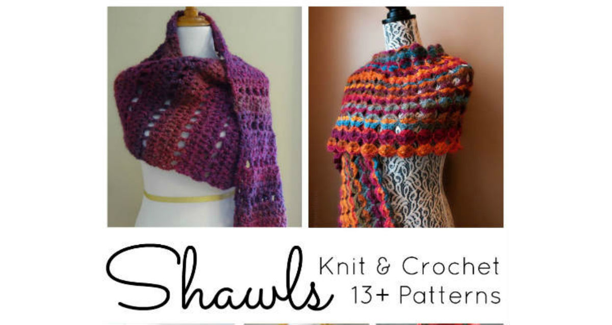 13 Knit Crochet Shawl Patterns Fiberartsycom