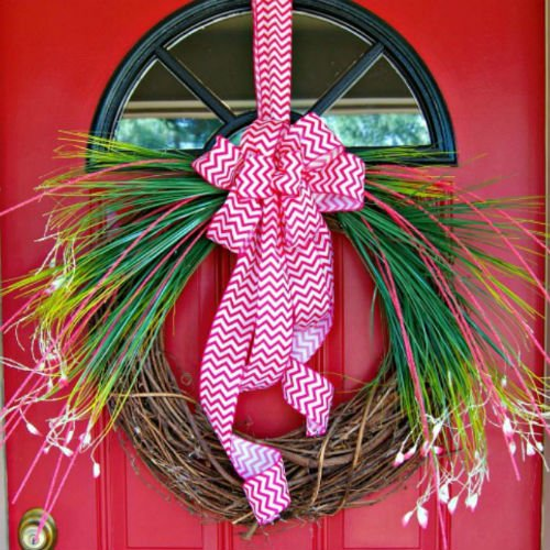 Homemade DIY Spring Wreath
