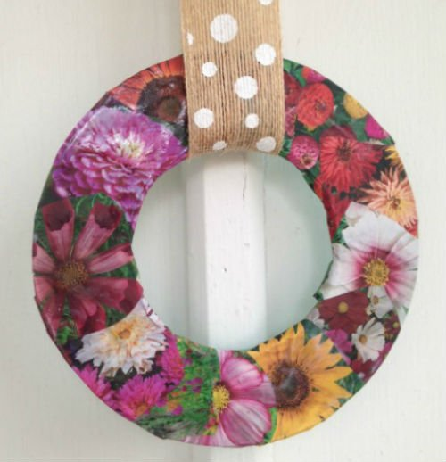 Decoupage Spring Wreath