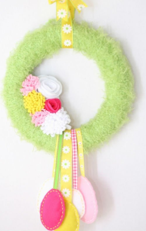 Easy Easter to Spring Homemade Wreath