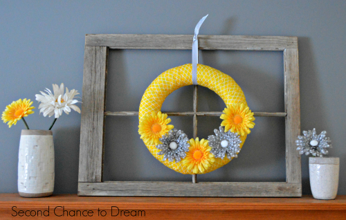 DIY Spring Wreath for your mantel