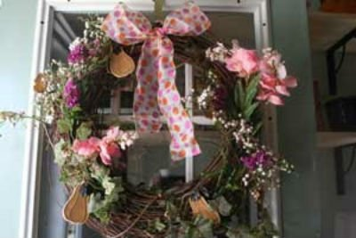 How to make a flower wreath