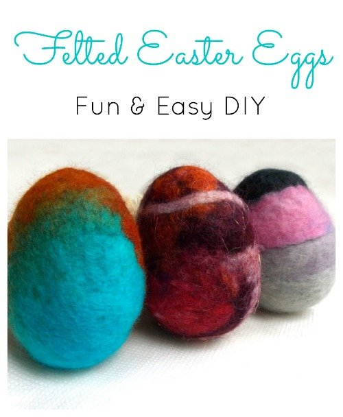 How to Make Wet Felted Easter Eggs, FiberArtsy.com