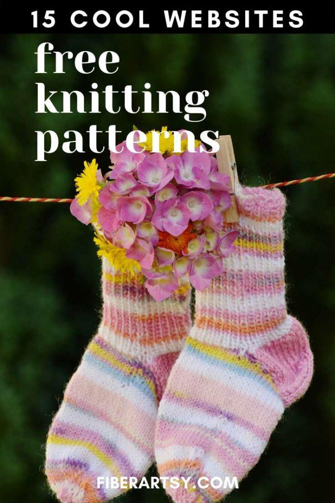 free knitting patterns online - 15 websites
