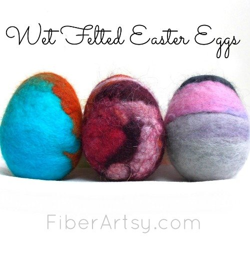 Decorate Your Easter Eggs with Colorful Felted Wool