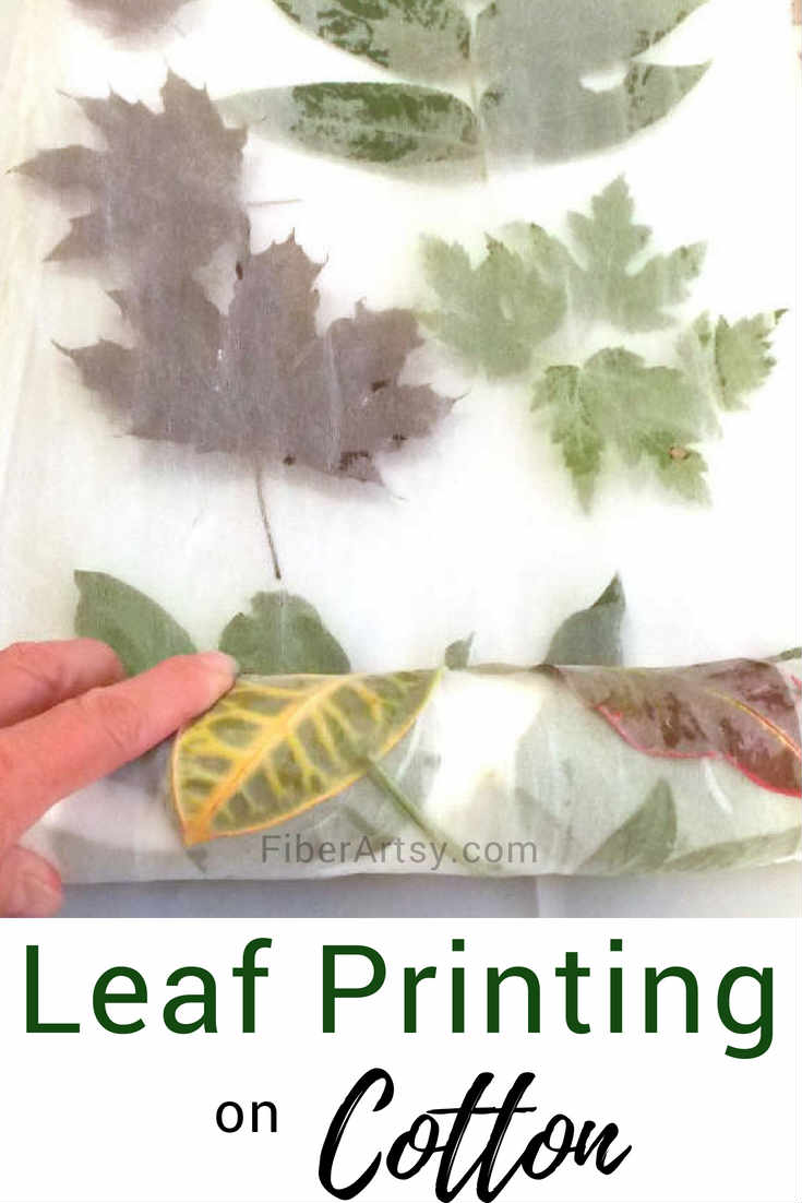 Eco Leaf Printing on Cotton and Silk Fabric. A fabric dyeing tutorial