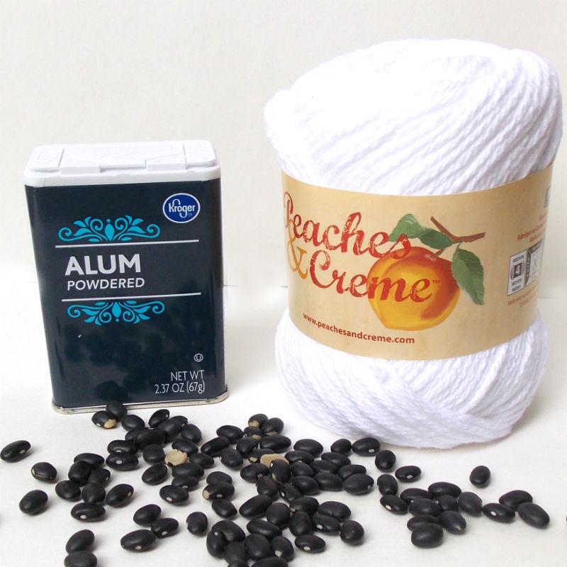 How to make a black bean dye for yarn and fabric