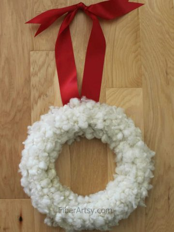How to Make Your Own Christmas Wreath with Sheep Wool FiberArtsy.com feature