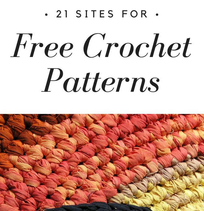 21 Sites For Free Crochet Patterns Fiberartsy Com