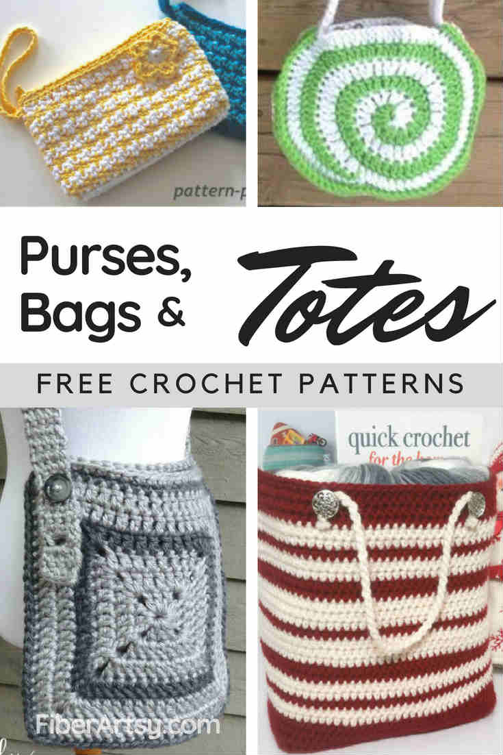 Free Crochet Patterns for Purses Bags and Totes