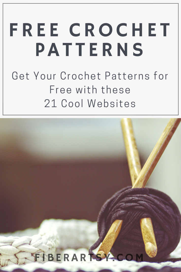 21 Great Websites for crochet patterns for sweaters, hats, scarves, gloves and more.