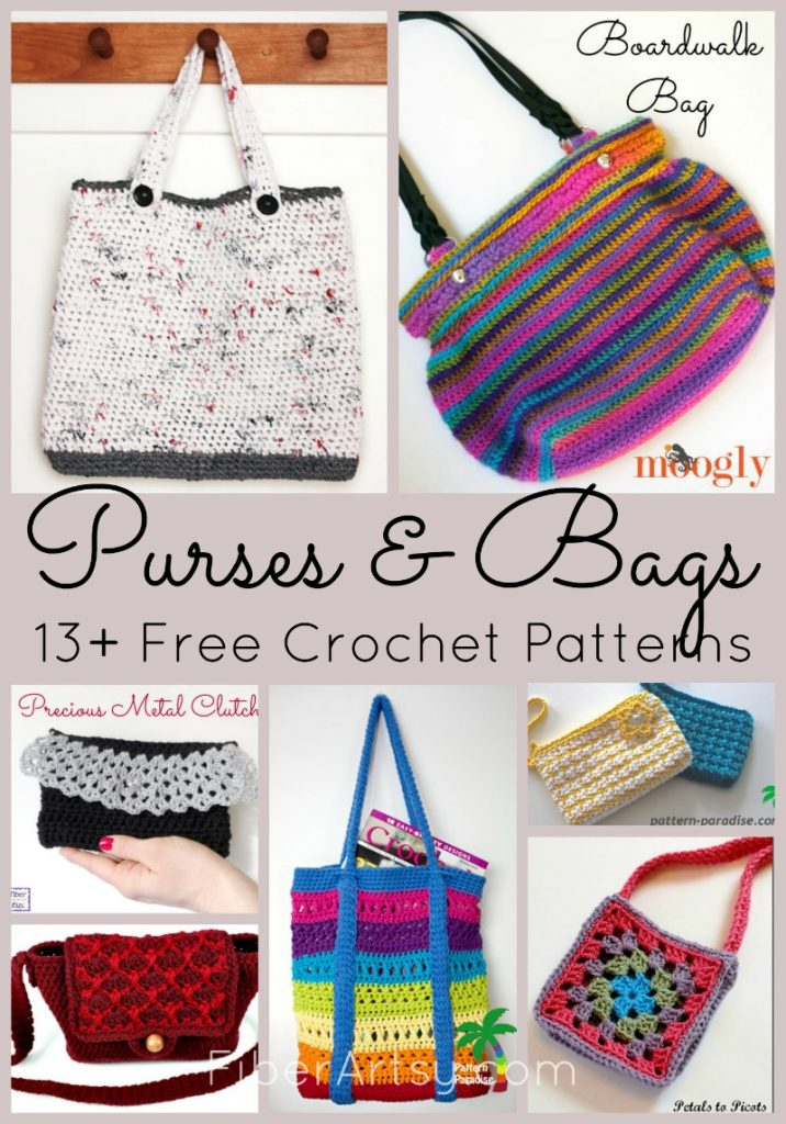 Free Crochet Patterns For Purses And Bags Fiberartsycom