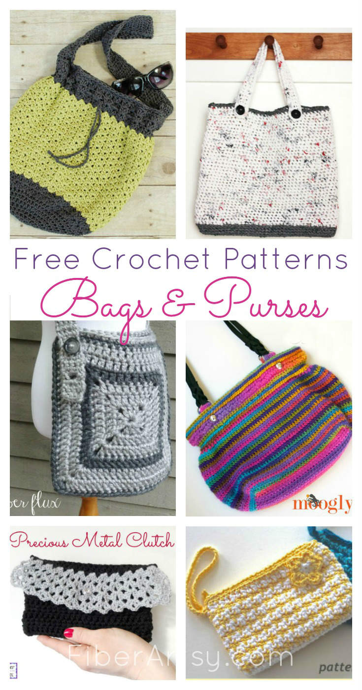 Free Crochet for Purses and Bags by FiberArtsy.com
