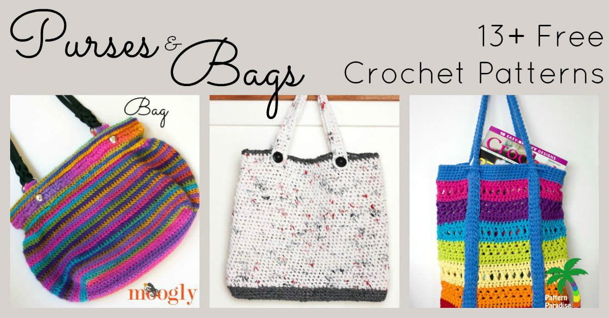 Free Crochet Patterns For Purses And Bags Fiberartsy