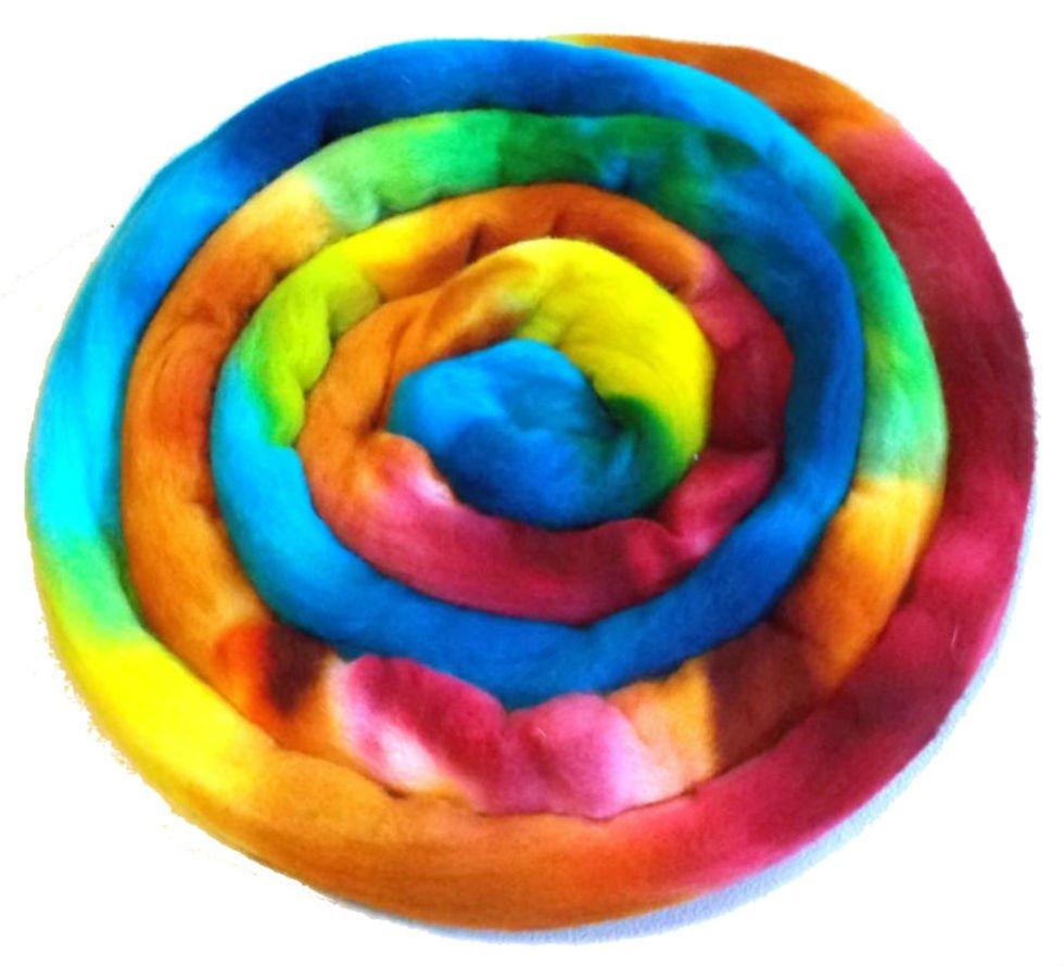 How to dye wool yarn or roving