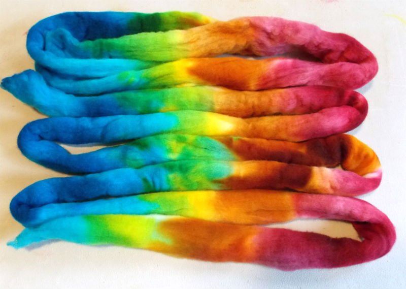 Kettle Dyed Wool Roving
