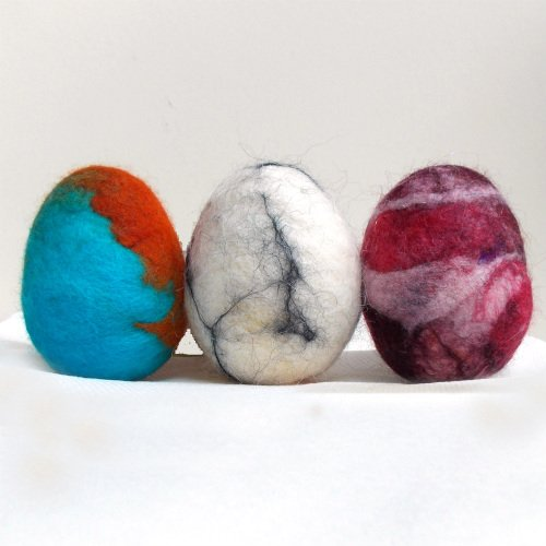 Easter Eggs made with Felted Wool