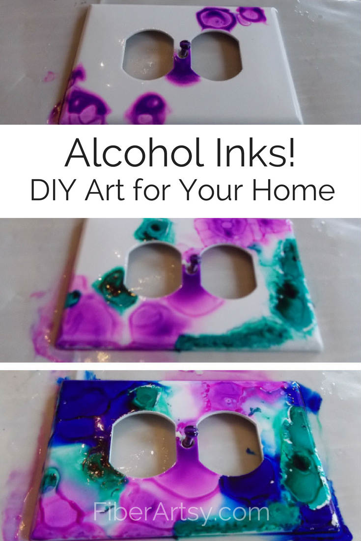 How to use alcohol inks. You can decorate your walls with colorful switch plates and outlet covers!