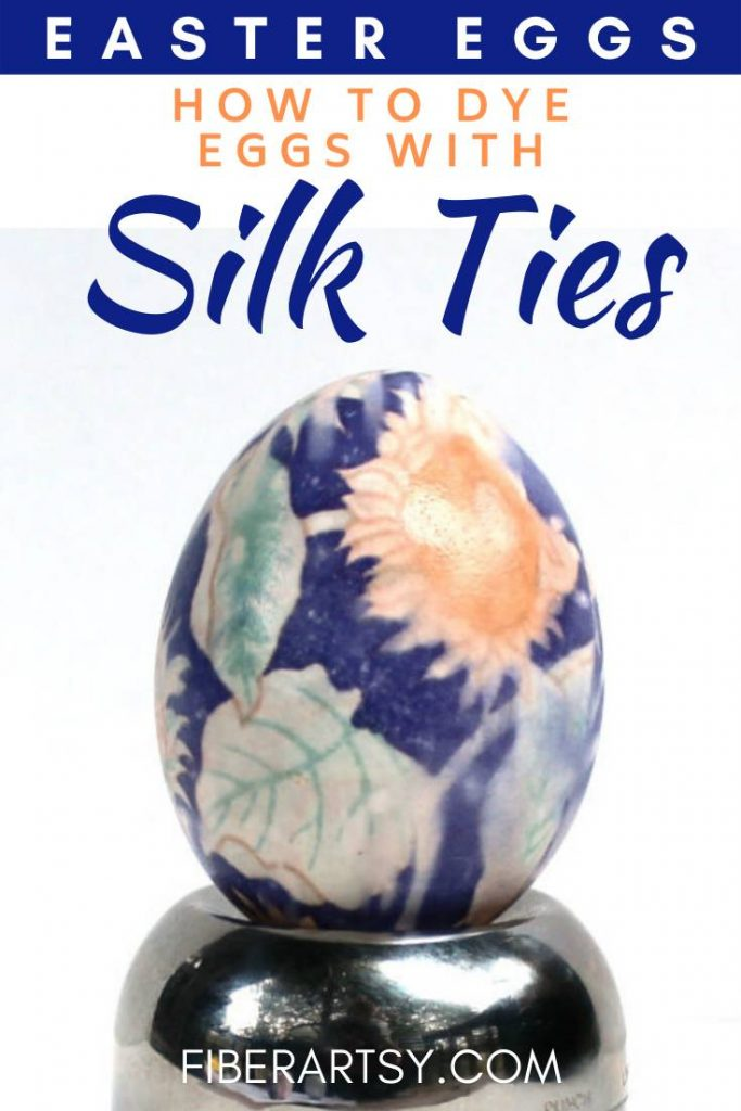 Coloring Easter Eggs with Silk Ties
