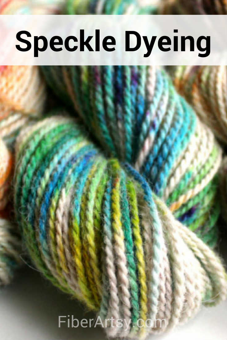 Dyed Speckled Yarn also called Sprinkled Yarn. A fun yarn dyeing technique that also works with Kool Aid powder