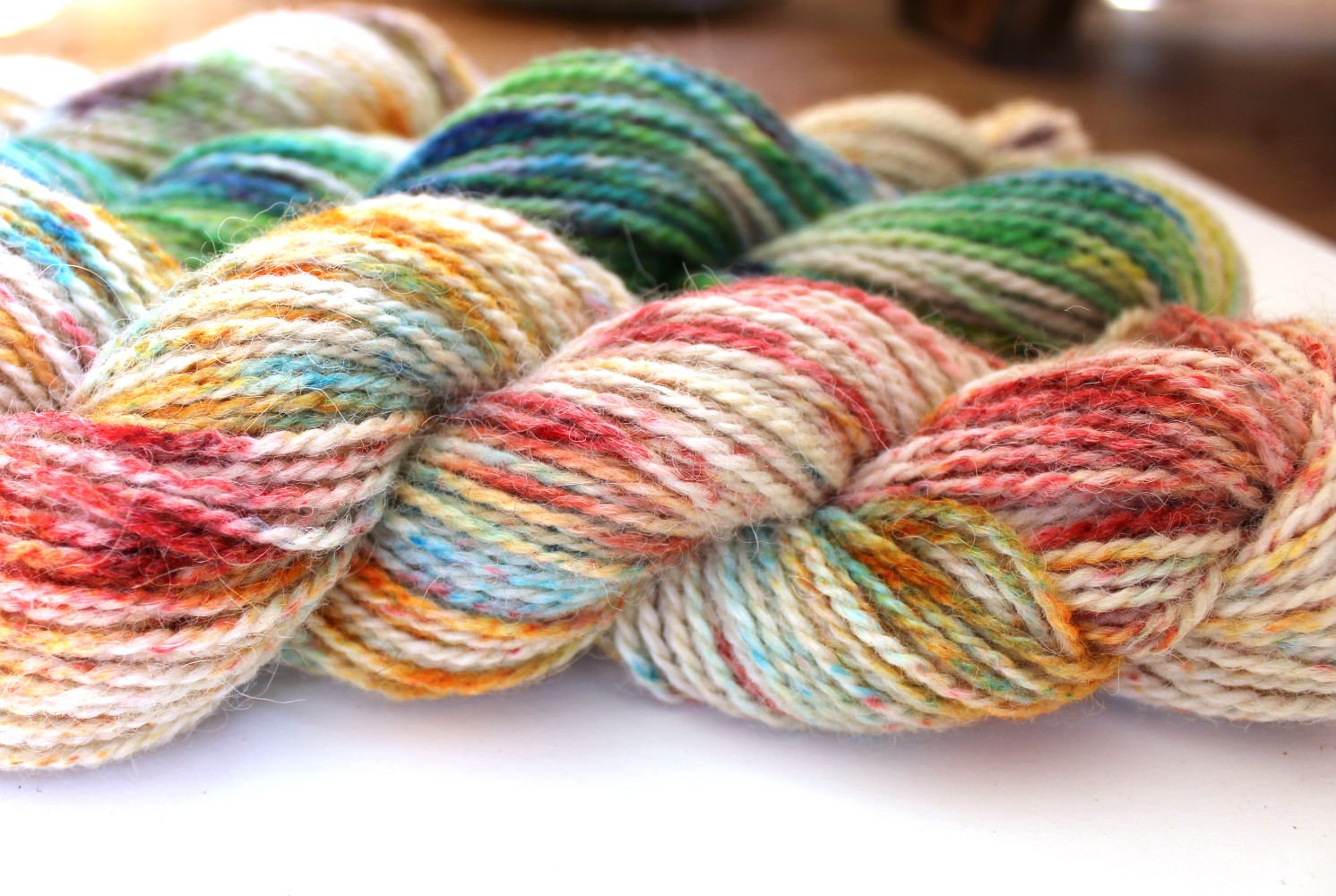 Speckle Dyed or Sprinkle Dyed Yarn