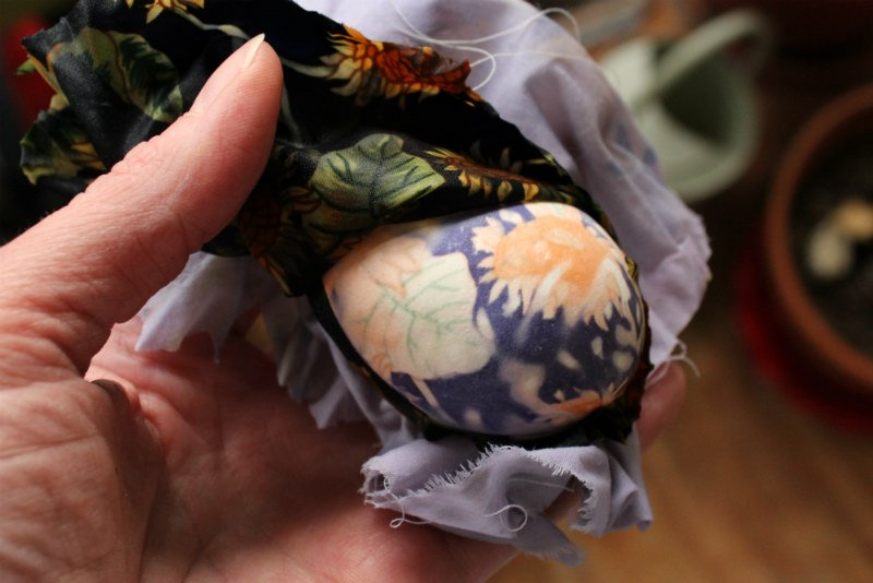 Unwrapping the cool Easter Eggs printed with Silk Tie fabric