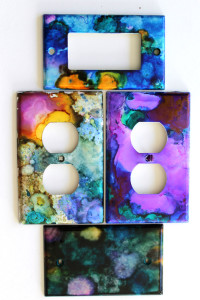 How to use Alcohol Inks on Switch Plates