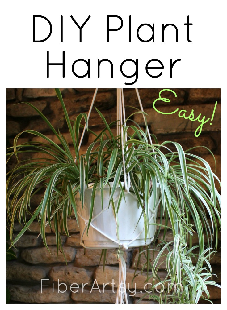 Learn how to make a macrame plant hanger. Super quick, easy and cheap home craft project.