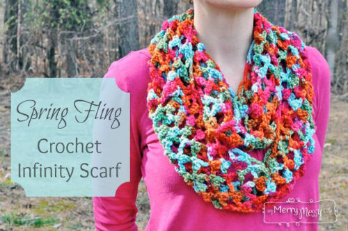 Picot Trellis Scarf Pattern for Crochet