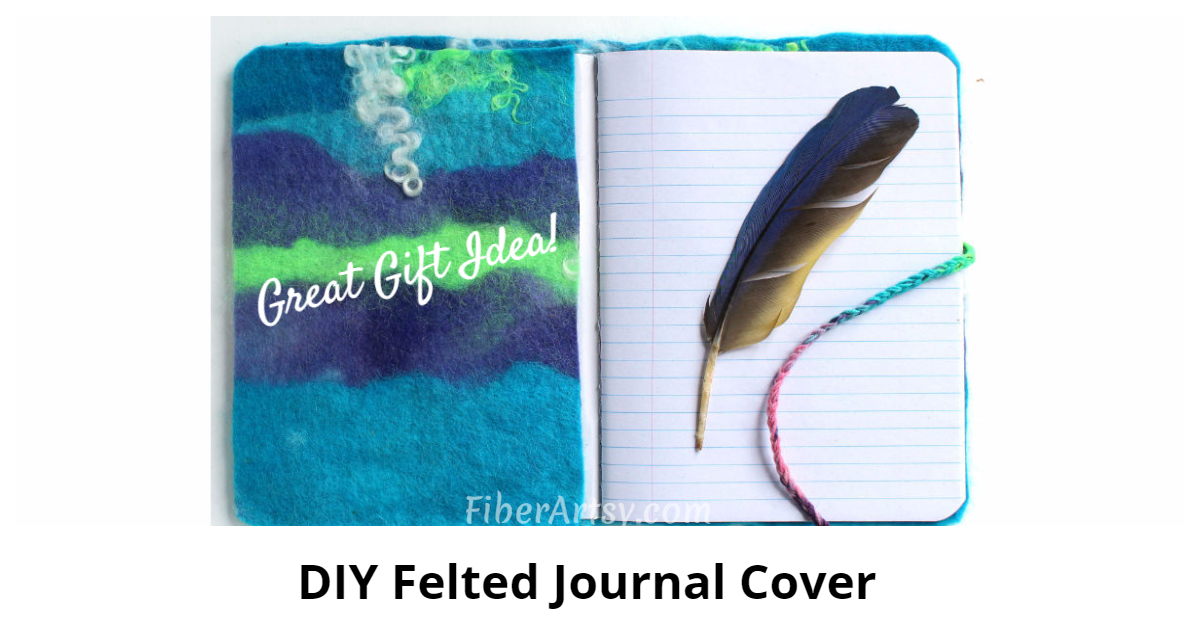 Links To More Than 10 000 Crochet Patterns And Pieces: DIY Felted Journal Cover