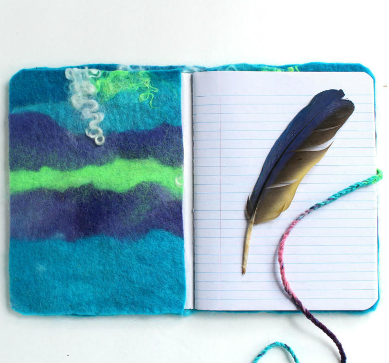 Diy Felted Journal Cover Fiberartsy Com