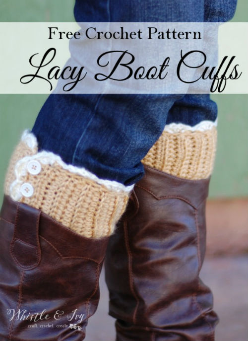 Free Boot Cuff Patterns for Crochet by FiberArtsy.com