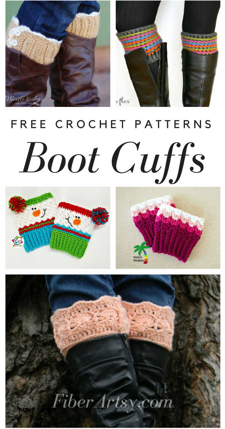 Free Boot Cuff Patterns For Crochet By Fiberartsycom