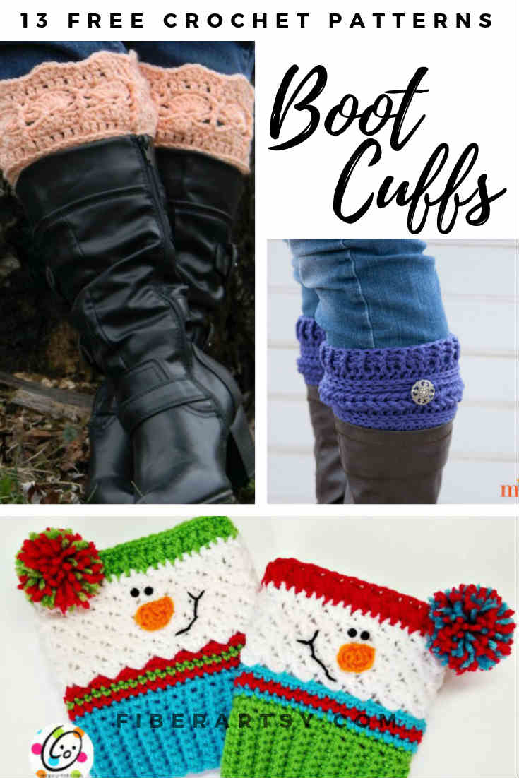 Free Patterns for Crochet Boot Cuffs or Boot Toppers